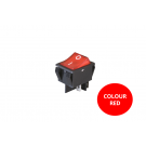Rocker Switch - Red Illuminated - On/Off