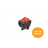 Rocker Switch - Orange Illuminated - On/Off