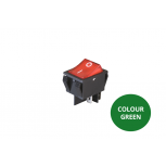 Rocker Switch - Green Illuminated - On/Off