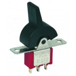 Black 3 Position (ON-NONE-ON) Double Pole Rocker Switch