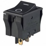 Black SPST 3 Position (ON-NONE-OFF) Rocker Switch