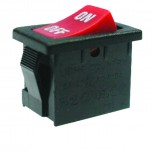 Black SPST (OFF-ON) Illuminated Rocker Switch with Red LED