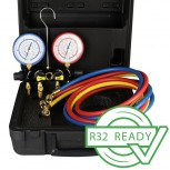 Javac R410A/R32 Service Manifold (4-Valve) with case & hoses